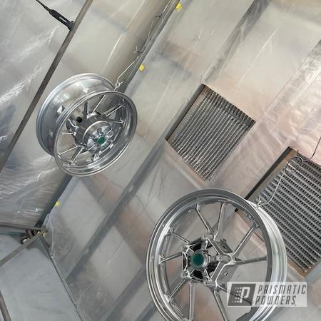 "Powder Coating: Wheels,Corkey Red PPS-3095,POLISHED ALUMINUM HSS-2345,Motorcycle Rims,Rims,17"" Aluminum Rims,Motorcycle Wheels,2 stage"