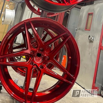 Powder Coated Wheels In Pps-2974, Ums-10671 And Ppb-6415