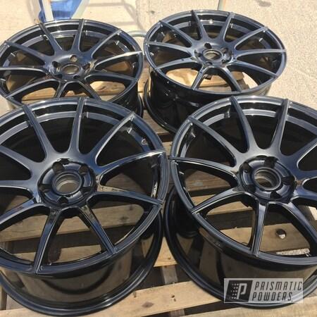 "Powder Coating: Wheels,Black Chrome II PPB-4623,Automotive,Rims,Super Chrome Plus UMS-10671,19"" Aluminum Rims,Mitsubishi,Eclipse,Aluminum Wheels"