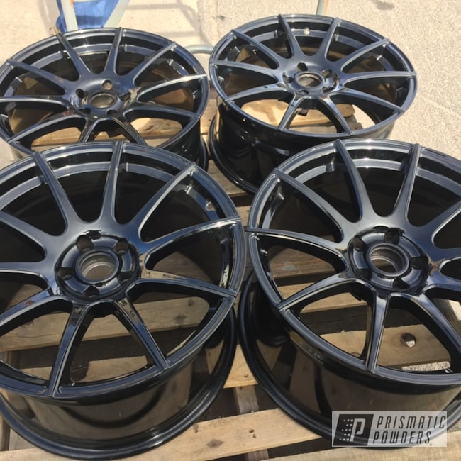 Powder Coated Eclipse Wheels In Ppb-4623 And Ums-10671
