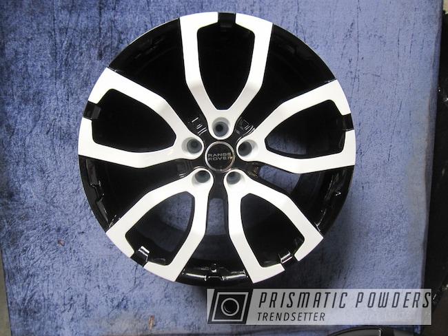 Powder Coating: Wheels,Automotive,chrome,Rims,GLOSS BLACK USS-2603,powder coating,Gloss White PSS-5690