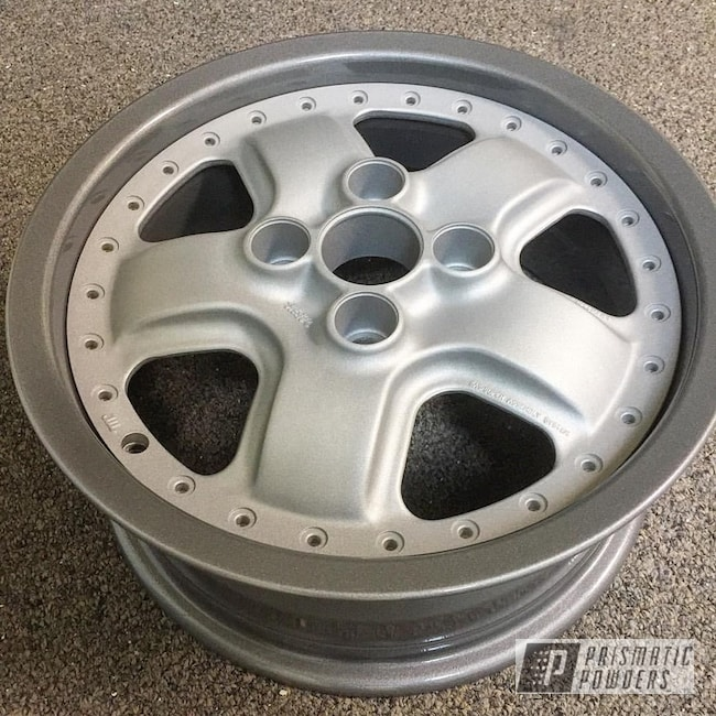 Powder Coating: Heavy Silver PMS-0517,2 Piece Wheels,Honda wheels,Honda,Clear Top Coat Applied,Galaxy Grey III PMB-2862,Clear Top Coat,Mugen Wheels,Casper Clear PPS-4005,Mugen