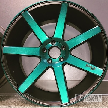 Kingsport Grey, Jamaican Teal And Silk Satin Black Powder Coating On Niche Wheels