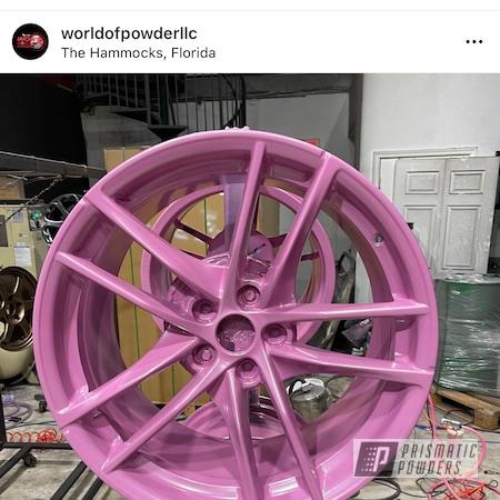 Powder Coating: Automotive,Alloy Wheels,Pearlized Pink PMB-6714,Toyota,supra