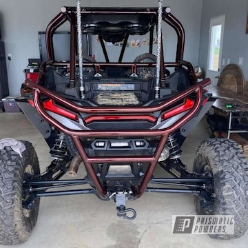 Powder Coated Razor Polaris Roll Cage In Dragons Blood Step 1 And 2