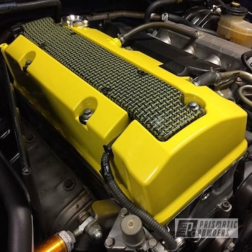 Hot Yellow Powder Coated Honda S2000 Valve Cover