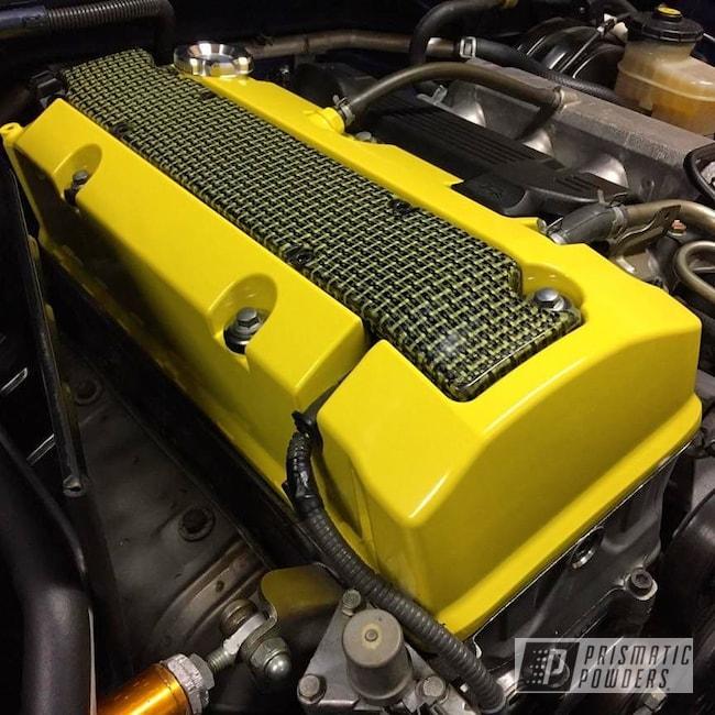 Powder Coating: S2000,Honda,Valve Cover,Hot Yellow PSS-1623