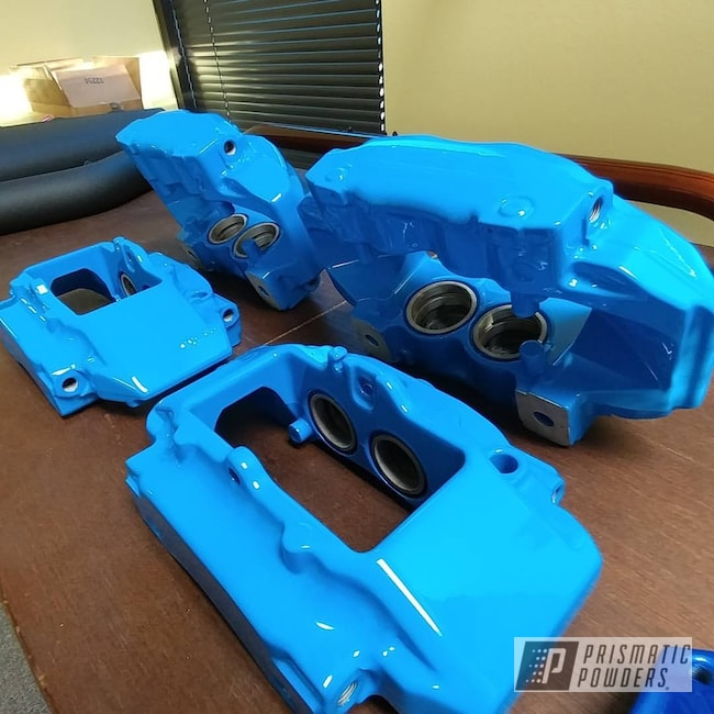 Powder Coating: Brembo,Brake Calipers,Playboy Blue PSS-1715,Porsche,Custom Brake Calipers