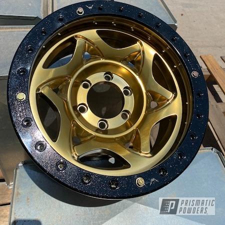 Powder Coating: Wheels,Automotive,Polar Sparkle PPB-5939,Ink Black PSS-0106,Transparent Gold PPS-5139,2 Tone Wheels