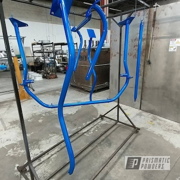 Custom Roll Cage Tubing In Illusion Blueberry And Clear Vision Powder Coat