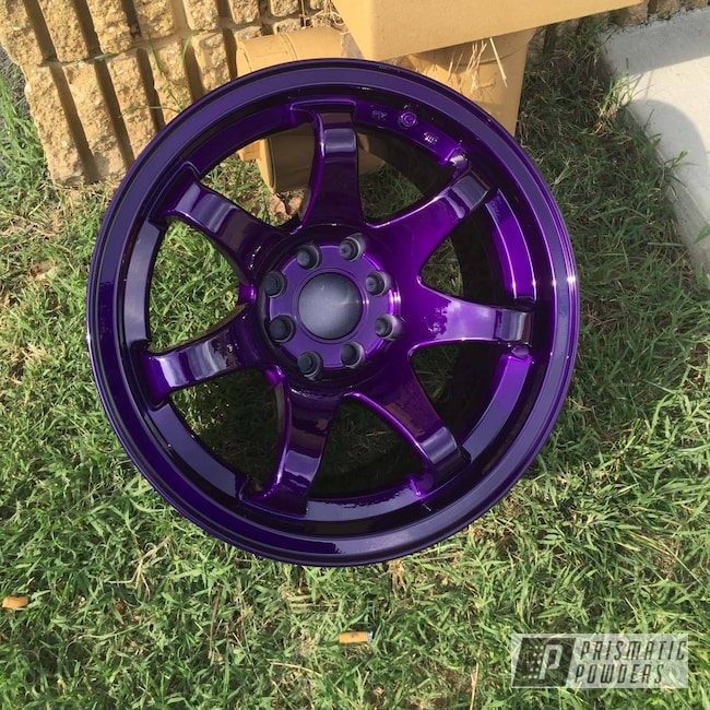 Powder Coating: Illusion Purple PSB-4629,Wheels,Clear Vision PPS-2974,Two Stage Application