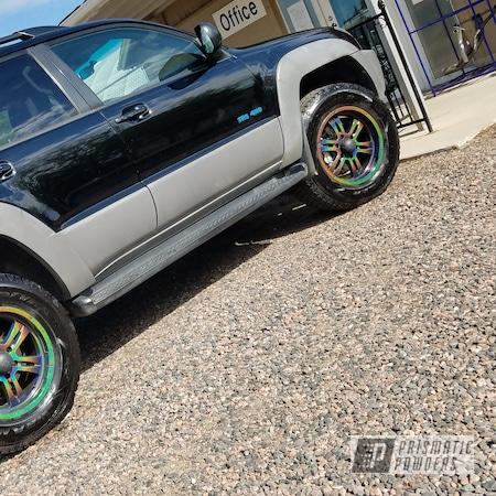 Powder Coating: Wheels,Rainbows,Rims,Colorado,Applied Plastic Coatings,Toyota Rims,Prismatic Universe PMB-10367