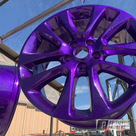 Powder Coating: Wheels,rockin rims,Rims,Applied Plastic Coatings,VIOLET SPARKLE UPB-5233,Automotive Wheels