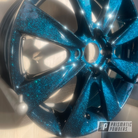 "Powder Coating: Wheels,Rims,Ink Black PSS-0106,17"" Wheels,Magnum Blue Sparkle PPB-5078"