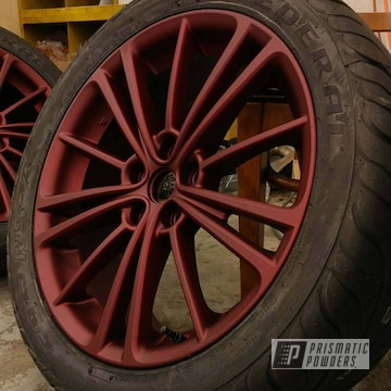 Multi-layered Powder Coating On This Matte Finished Subaru Wheel