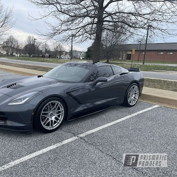 Corvette Wheels Powder Coated In Polished Aluminum And Clear Vision