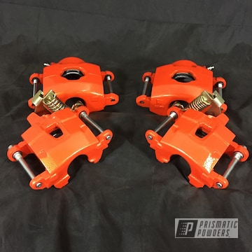 Powder Coated Brake Calipers In Pps-2974 And Pmb-4132