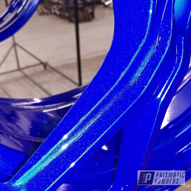 Powder Coating: Wheels,Heavy Silver PMS-0517,Lollypop Blue UPS-2502