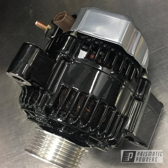 Powder Coating: Automotive,Ink Black PSS-0106,Powder Coated Alternator