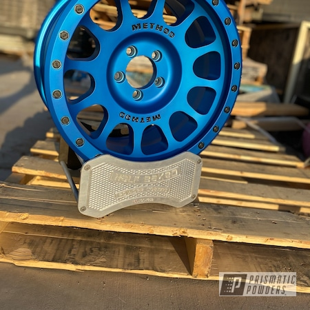 Powder Coating: Wheels,Method Wheels,BLACK JACK USS-1522,Rims,Super Chrome Plus UMS-10671,Peeka Blue PPS-4351,Boat,Method,Casper Clear PPS-4005,Method Race Wheels