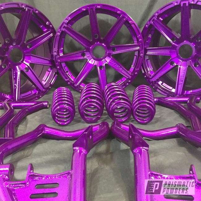 Powder Coating: Clear Vision PPS-2974,ATV,Chameleon Violet PPB-5731,Illusion Violet PSS-4514