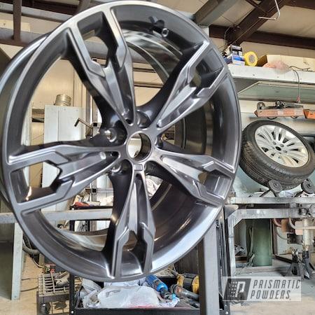 "Powder Coating: Wheels,Alloy Wheels,550i,Rims,Super Chrome Plus UMS-10671,2 Stage Application,BMW,Black Chrome III PPB-6677,19"" Aluminum Rims,Car Wheels"