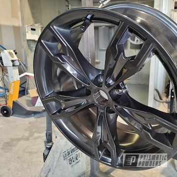Powder Coated Bmw Wheels In Ums-10671 And Ppb-6677