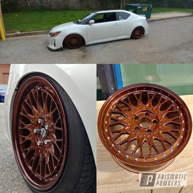 Powder Coating: Wheels,Transparent Copper PPS-5162,Custom Wheels,Super Chrome USS-4482,vip modular