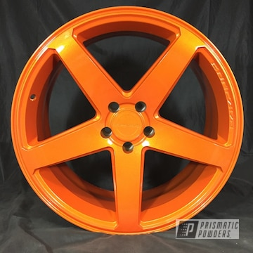 Illusion Orange With Clear Vision Powder Coated Wheel