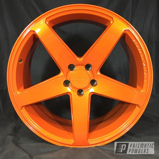 Powder Coating: Wheels,Clear Vision PPS-2974,Illusion Orange PMS-4620