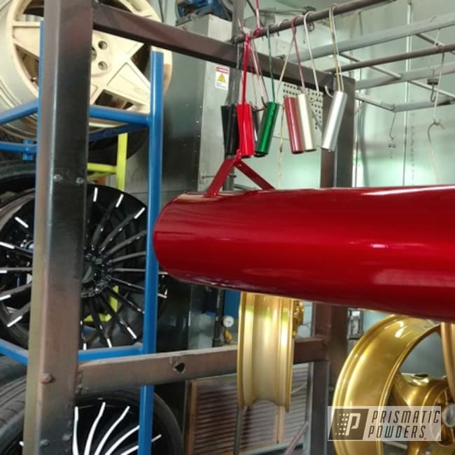 Powder Coating: Automotive,Lollypop Red UPS-1506