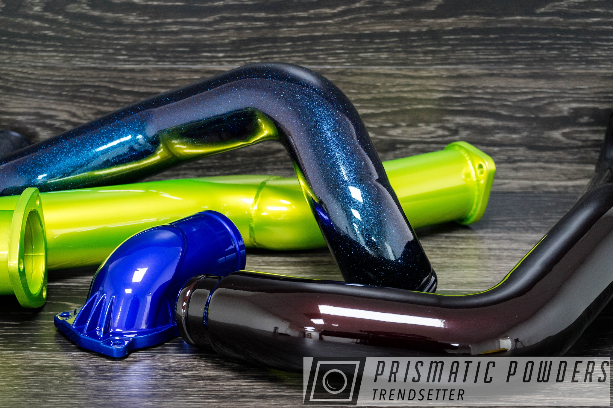 Powder Coating: Clear Vision PPS-2974,SUPER CHROME USS-4482,Thermostat housing,LOLLYPOP BLUE UPS-2502,Chameleon Teal PPB-5733,Clear Top Coat,Engine Parts,Intake Pipe,Illusion Shocker PMB-10050,Illusion Malbec PMB-6906