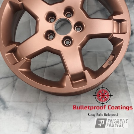 "Powder Coating: Wheels,Element,Pink Gold,16"" Wheels,Honda,Aluminum,16,Rose Gold,Aluminum Wheels,Alloy Wheels,Fireside Copper PMB-4934,Rims,Gold,Rosegold,Alloy"