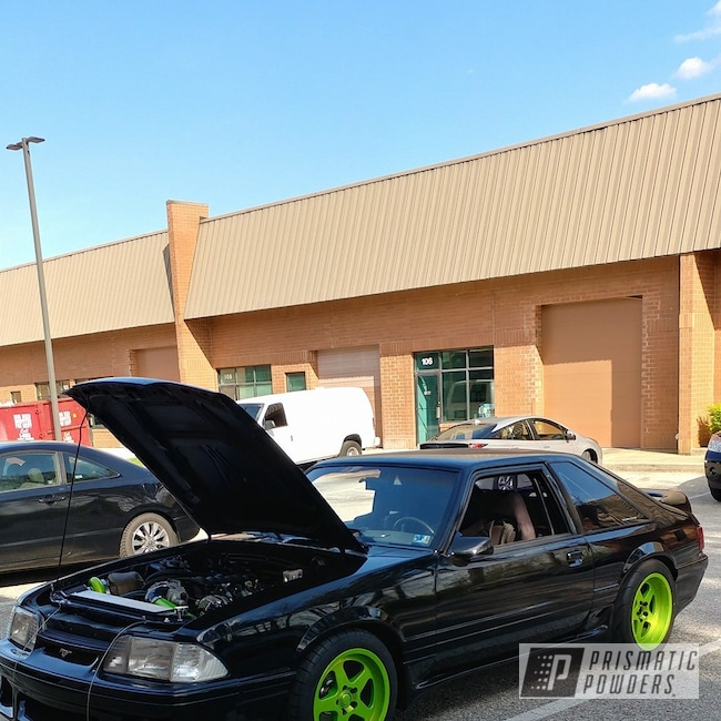 Powder Coating: Fox Body,Turbo,ls1,Super Chrome USS-4482,Ford Mustang,Shocker Yellow PPS-4765