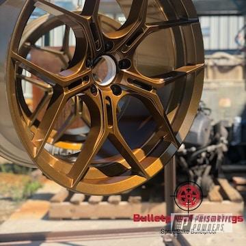 Powder Coated Custom Wheels In Pms-2569 And Ppb-4520