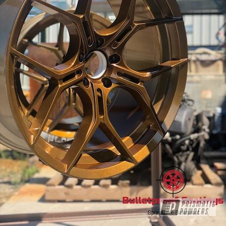 "Powder Coating: Wheels,BMW,22"",2 stage,X6,Aluminum Wheels,Bronze,2 Color Application,Rims,2 Stage Application,sparkle,Grain,Alien Silver PMS-2569,Monaco Copper PPB-4520,Gold"