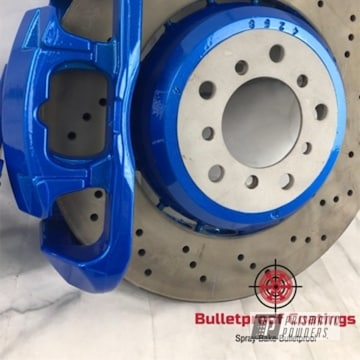 Powder Coated Brake Calipers And Rotor Top Hats