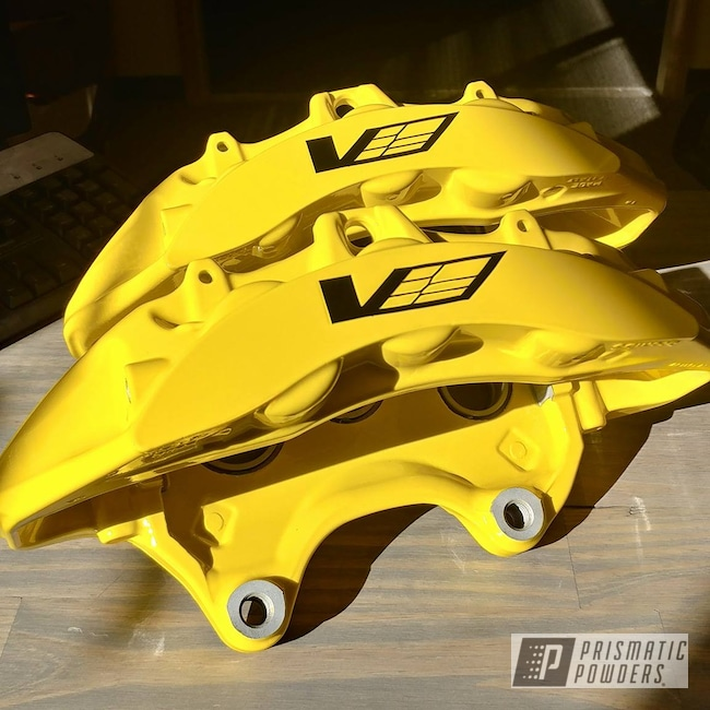 Powder Coating: Brembo,Brembo Brake Calipers,Corvette,Hot Yellow PSS-1623