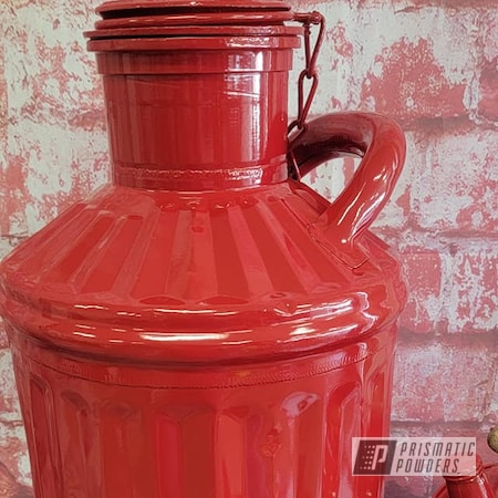 Powder Coating: Gas Cans,Vintage Cans,Vintage,RAL 3002 Carmine Red,Vintage Metal Cans,Oil Cans