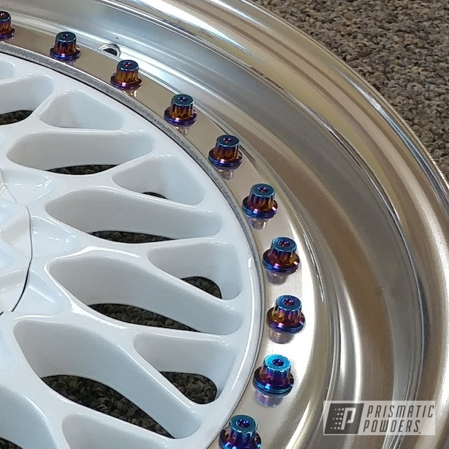 Powder Coating: Wheels,Polar White PSS-5053,BBS Wheels,BBS,3 Piece Wheels