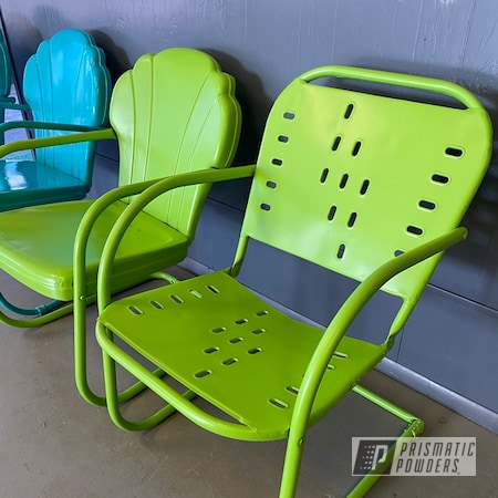 Powder Coating: Patio Chairs,Chairs,Zombie Green PSB-7001,Pool Chairs,Navajo Nugget PSB-6838,Lawn Chairs,Metal Chair,Furniture