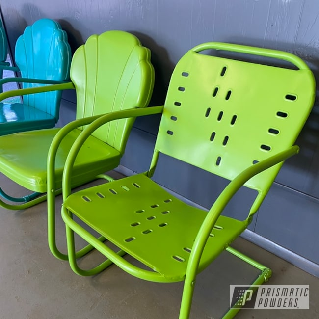Powder Coated Chairs In Psb-7001 And Psb-6838