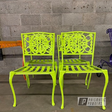 Powder Coated Patio Chairs In Pss-7068 And Pmb-4209