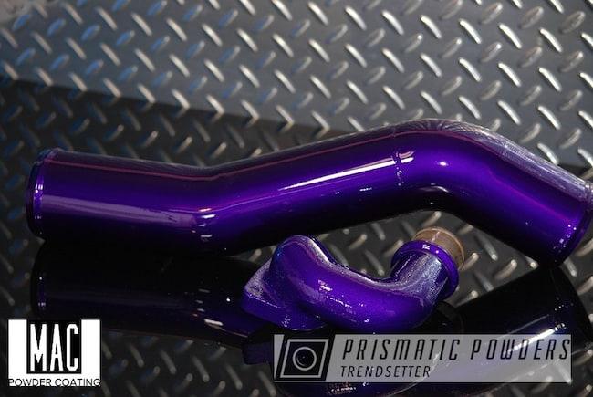 Powder Coating: Illusion Purple PSB-4629,Automotive,Clear Vision PPS-2974,Intake Pipes,Air Intake,Automotive Parts,mac powder coating