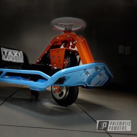 Powder Coating: Drift Cart,Taxi Garage Crazy Cart,Taxi Garage,Drift Kart,Powder Blue PSS-4009,Crazy Cart,Drift,Go Cart,M&M ORANGE PSS-5678