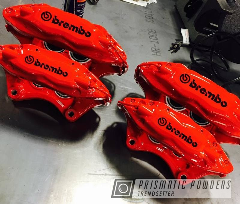 Powder Coating: Clear Vision PPS-2974,Ink Black PSS-0106,red,Brembo Brake Calipers,Astatic Red PSS-1738,Custom Brake Calipers