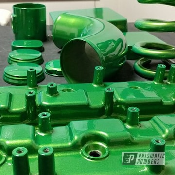 Misc. Car Parts Coated In Illusion Green Ice With Clear Vision Top Coat