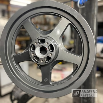 Powder Coated Motorcycle Rims In Umb-6578 And Pps-2974
