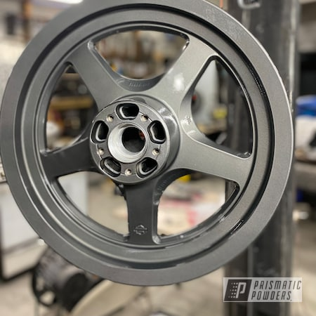 "Powder Coating: Wheels,FORGED CHARCOAL UMB-6578,Harley Davidson,Clear Vision PPS-2974,Motorcycle Rims,Rims,Harley Wheels,16"" Wheels"