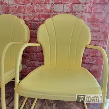 Powder Coated Patio Chairs In Psb-2949